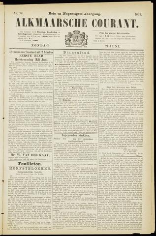 Alkmaarsche Courant 1891-06-21