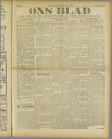 Ons Blad : katholiek nieuwsblad voor N-H 1920-09-30