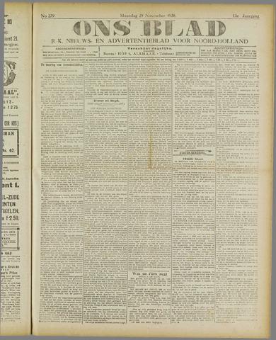 Ons Blad : katholiek nieuwsblad voor N-H 1920-11-29