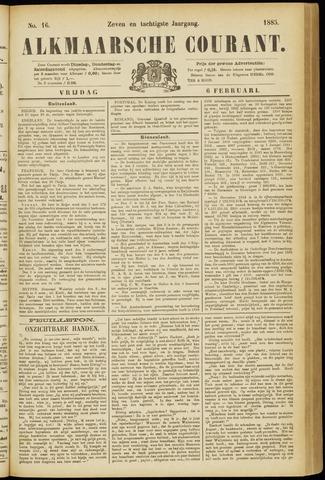 Alkmaarsche Courant 1885-02-06