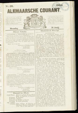 Alkmaarsche Courant 1854-06-26