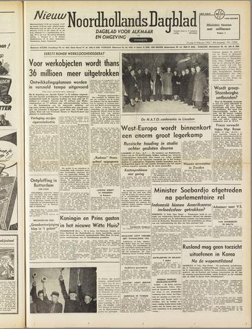 Nieuw Noordhollandsch Dagblad : voor Alkmaar en omgeving 1952-02-22