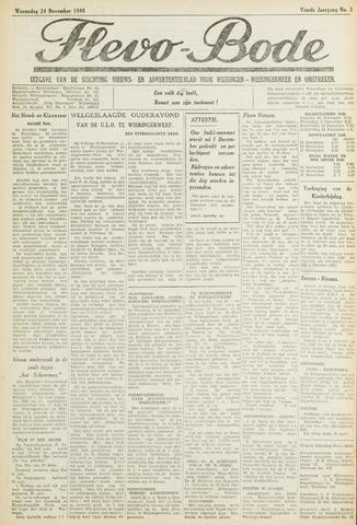 Flevo-bode: nieuwsblad voor Wieringen-Wieringermeer 1948-11-24