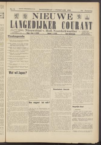 Nieuwe Langedijker Courant 1932-02-04