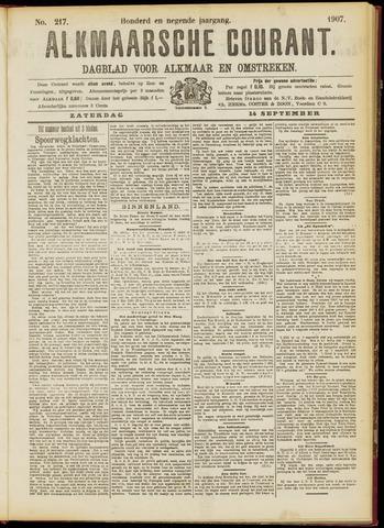 Alkmaarsche Courant 1907-09-14