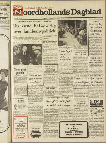 Noordhollands Dagblad : dagblad voor Alkmaar en omgeving 1969-12-16