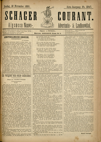 Schager Courant 1888-11-18