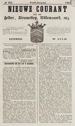 Nieuwe Courant van Den Helder 1864-07-30
