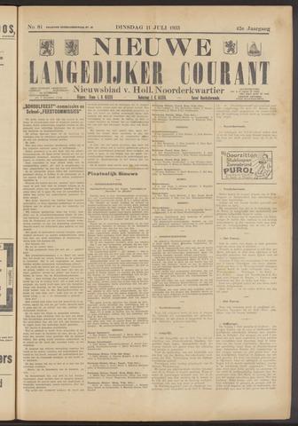 Nieuwe Langedijker Courant 1933-07-11