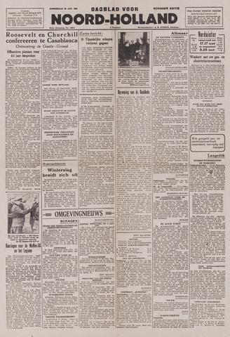 Dagblad Noord-Holland, Schager editie 1943-01-28