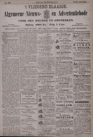 Vliegend blaadje : nieuws- en advertentiebode voor Den Helder 1875-10-30