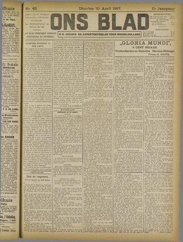 Ons Blad : katholiek nieuwsblad voor N-H 1917-04-10