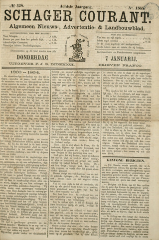 Schager Courant 1864
