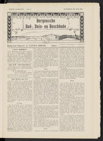 Bergensche bad-, duin- en boschbode 1914-06-20