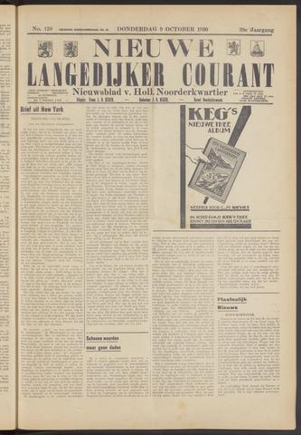 Nieuwe Langedijker Courant 1930-10-09