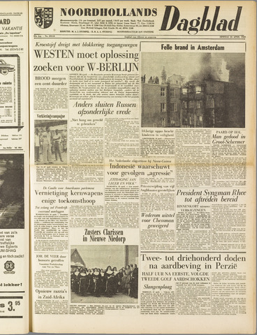 Noordhollands Dagblad : dagblad voor Alkmaar en omgeving 1960-04-26