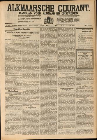 Alkmaarsche Courant 1934-11-02