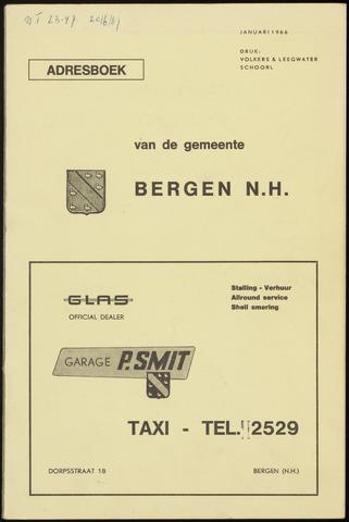 Adresboek van Bergen 1966-01-01