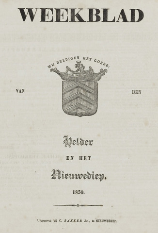 Weekblad van Den Helder en het Nieuwediep 1850-01-01