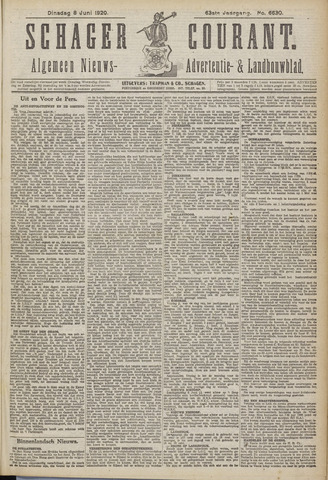 Schager Courant 1920-06-08