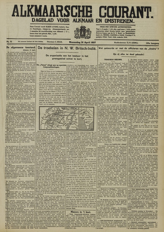 Alkmaarsche Courant 1937-04-21