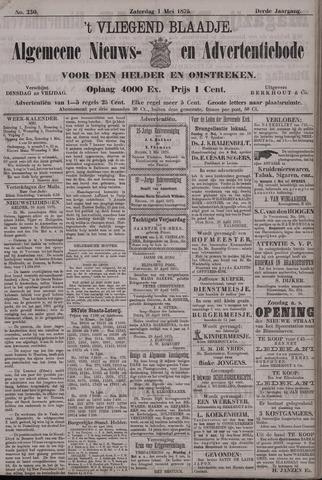 Vliegend blaadje : nieuws- en advertentiebode voor Den Helder 1875-05-01