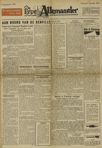 De Vrije Alkmaarder 1947-12-08