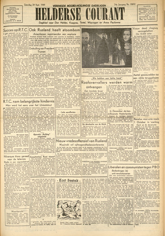 Heldersche Courant 1949-09-24