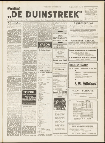 De Duinstreek 1953-10-30