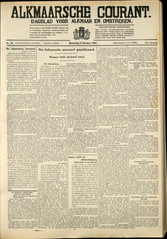 Alkmaarsche Courant 1937-10-11