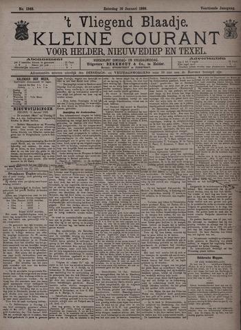 Vliegend blaadje : nieuws- en advertentiebode voor Den Helder 1886-01-16