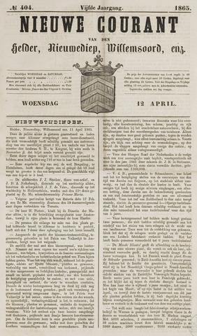Nieuwe Courant van Den Helder 1865-04-12