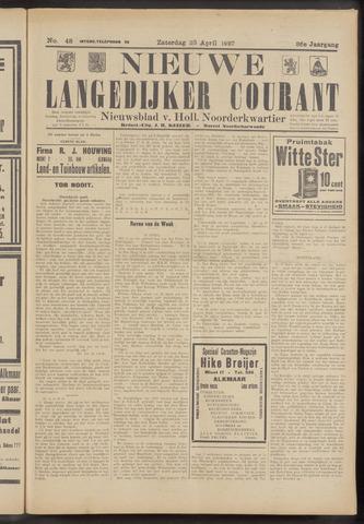 Nieuwe Langedijker Courant 1927-04-23