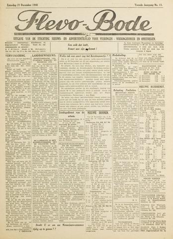 Flevo-bode: nieuwsblad voor Wieringen-Wieringermeer 1946-12-21