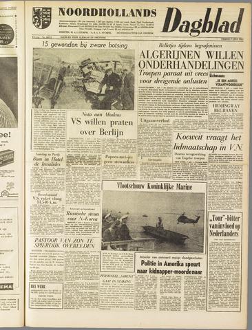 Noordhollands Dagblad : dagblad voor Alkmaar en omgeving 1961-07-07