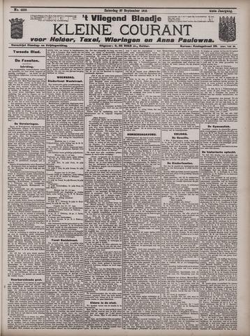 Vliegend blaadje : nieuws- en advertentiebode voor Den Helder 1913-09-27