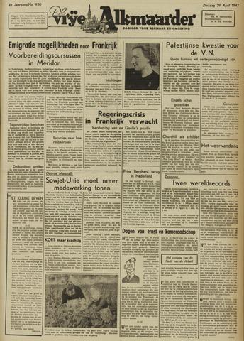 De Vrije Alkmaarder 1947-04-29