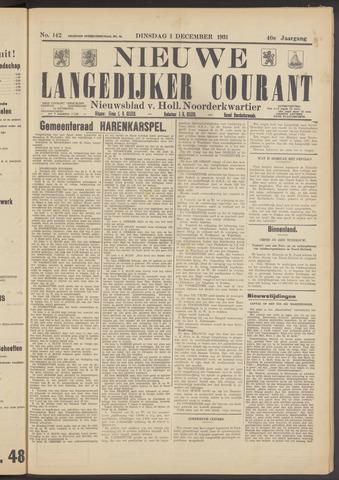 Nieuwe Langedijker Courant 1931-12-01
