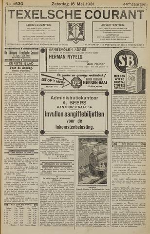 Texelsche Courant 1931-05-16