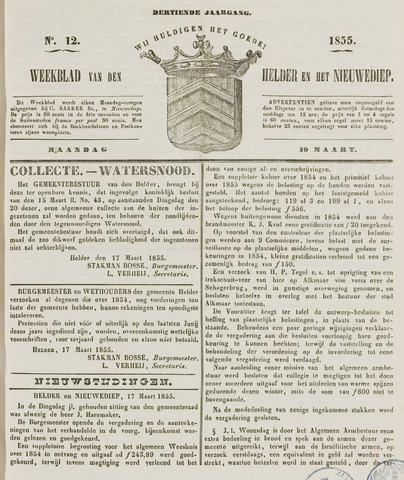 Weekblad van Den Helder en het Nieuwediep 1855-03-19