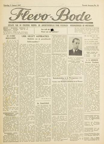 Flevo-bode: nieuwsblad voor Wieringen-Wieringermeer 1947-01-11