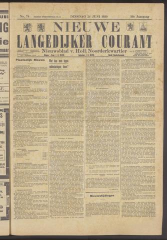 Nieuwe Langedijker Courant 1930-06-24
