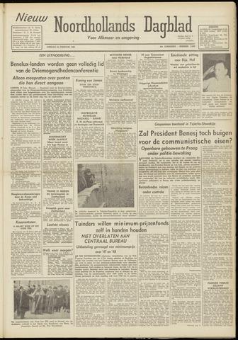 Nieuw Noordhollandsch Dagblad : voor Alkmaar en omgeving 1948-02-24