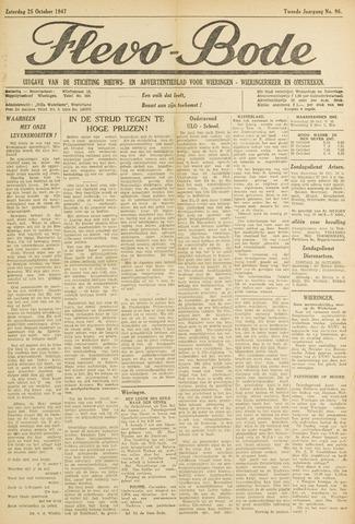 Flevo-bode: nieuwsblad voor Wieringen-Wieringermeer 1947-10-25