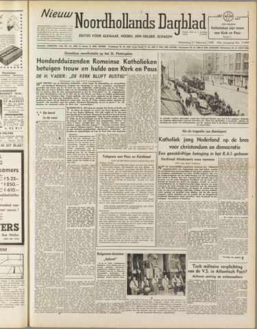 Nieuw Noordhollandsch Dagblad : voor Alkmaar en omgeving 1949-02-21