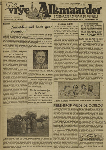 De Vrije Alkmaarder 1946-01-09