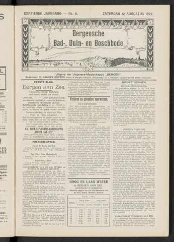 Bergensche bad-, duin- en boschbode 1922-08-12