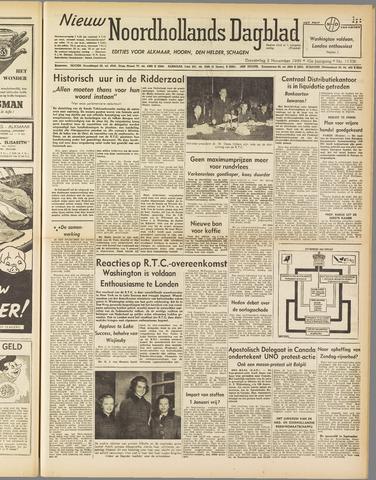 Nieuw Noordhollandsch Dagblad : voor Alkmaar en omgeving 1949-11-03