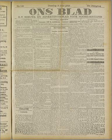 Ons Blad : katholiek nieuwsblad voor N-H 1919-06-03