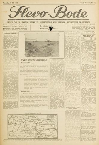 Flevo-bode: nieuwsblad voor Wieringen-Wieringermeer 1947-07-30